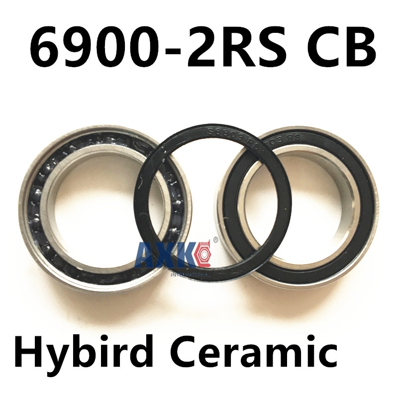 Free shipping 6900-2RS CB 6900 hybrid ceramic deep groove ball bearing 10x22x6mm 61900 free shipping 10pcs 6900 2rs 6900 2rs 10 22 6mm 61900 2rs the rubber sealing cover thin bearings 6900 rs 10x22x6mm for bicycle
