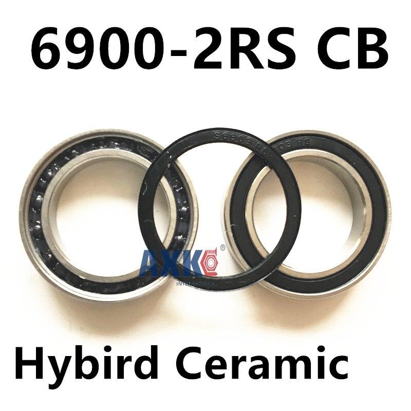 Free shipping 6900-2RS CB 6900 hybrid ceramic deep groove ball bearing 10x22x6mm 61900 free shipping 6900 full si3n4 ceramic deep groove ball bearing 10x22x6mm 61900