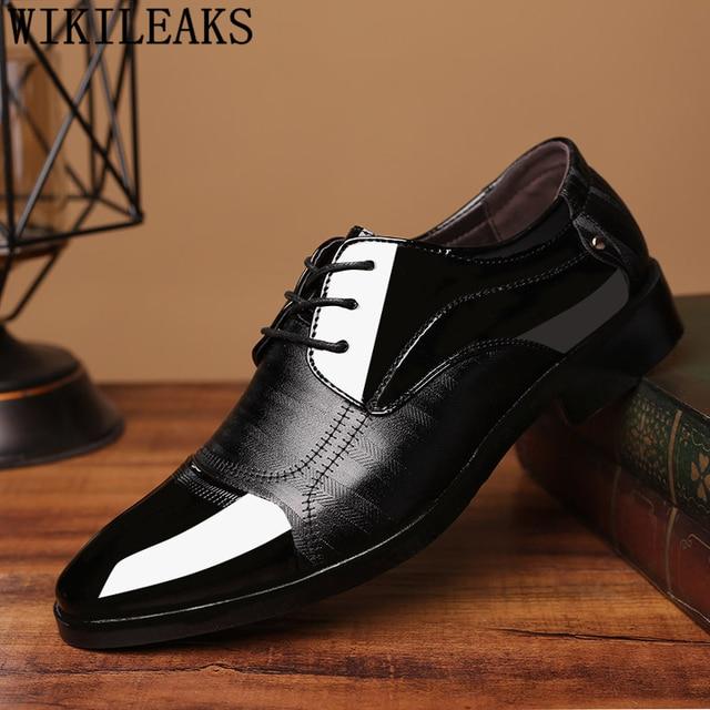 3128e5aa7 Zapatos Hombre zapatos de boda para formales de cuero negro zapatos hombres  oxford italianos para Hombre