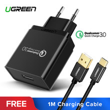 Ugreen USB Charger 18W Quick Charge 3.0 Mobile Phone Charger for iPhone Fast QC 3.0 Charger for Huawei Samsung Galaxy S9+ S8+(China)