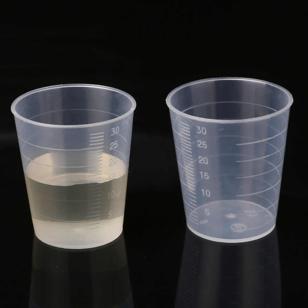 10 Pcs/50 PCS/100 Pcs 30 Ml Transparan Plastik Gelas Ukur Laboratorium Dapur Sekali Pakai Cairan Ukuran Pot wadah