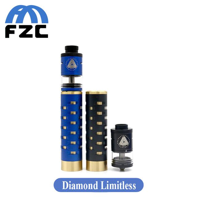 Nueva llegada de diamante negro ijoy ilimitadas ilimitadas mecánica kit mod vs rda rdta atomizador v3 cigarrillo electrónico kit rig