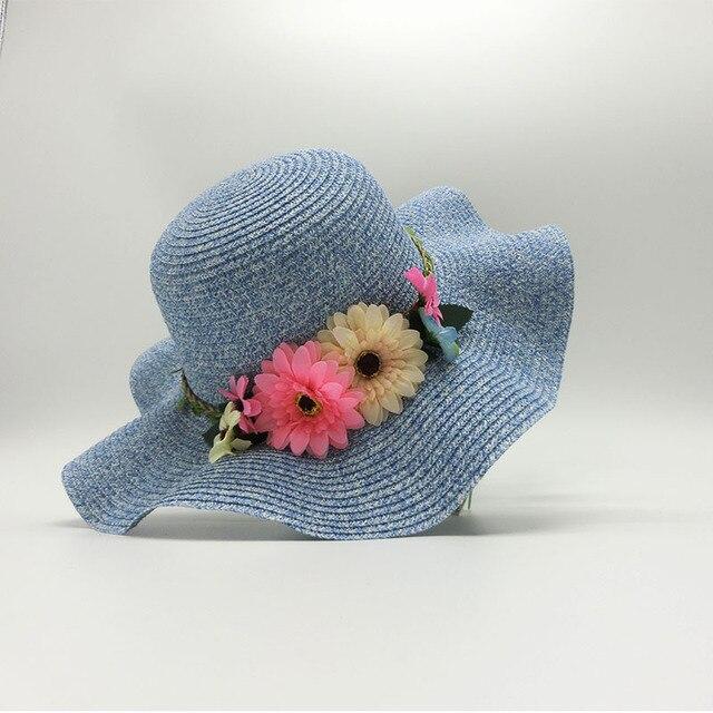 4e4ce94f38df20 summer hats for children girl adult baby plush flower toy cap kid sun cap  straw hat