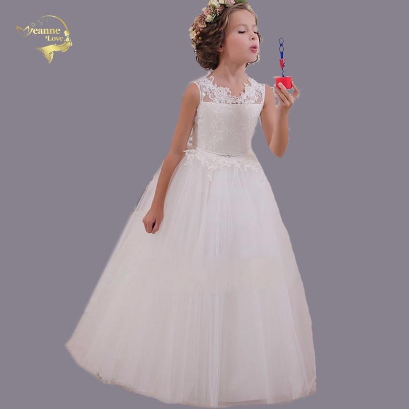 Comunion Decoracion Fiesta   Girl   Puffy Long   Dress     Flower     Girl     Dress   Tulle Kids Tutu   Dress   Customized Vestidos Longo China On Sale