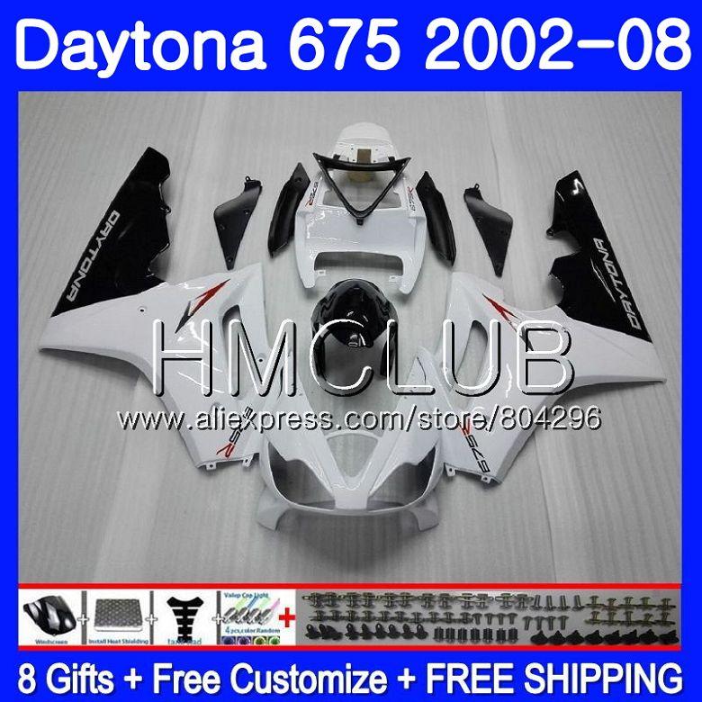 Corps blanc Brillant Pour Triumph Daytona 675 02 03 04 05 06 07 08 126HM. 7 Daytona675 02 2002 2003 2004 2005 2006 2007 2008 Carénage