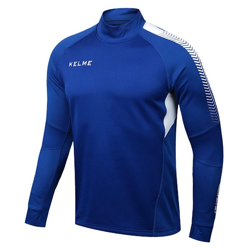 Kelme K089 Men Long Sleeve Thumb Buckle Training Light Board Team Sportswear Football Jersey Blue