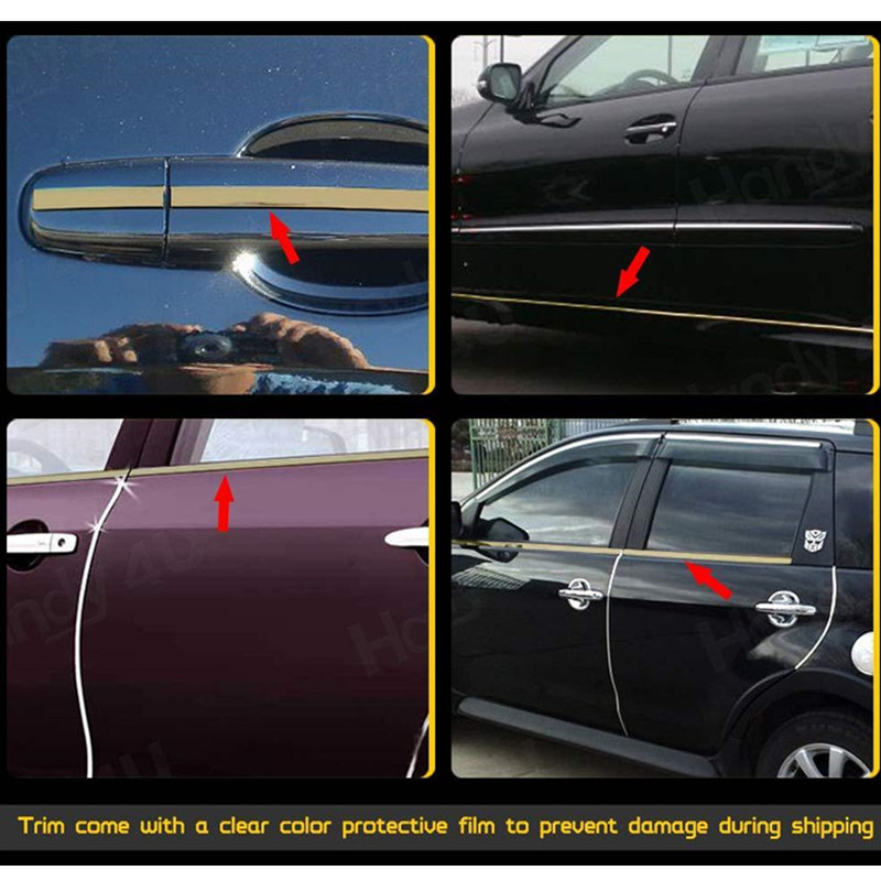 Image 3 - 5M Car Chrome Styling Decoration Moulding Trim Strip Tape Auto DIY Body Bumper Protect Sticker 6mm 8mm 10mm 12mm 15mm 20mm 30mm-in Styling Mouldings from Automobiles & Motorcycles