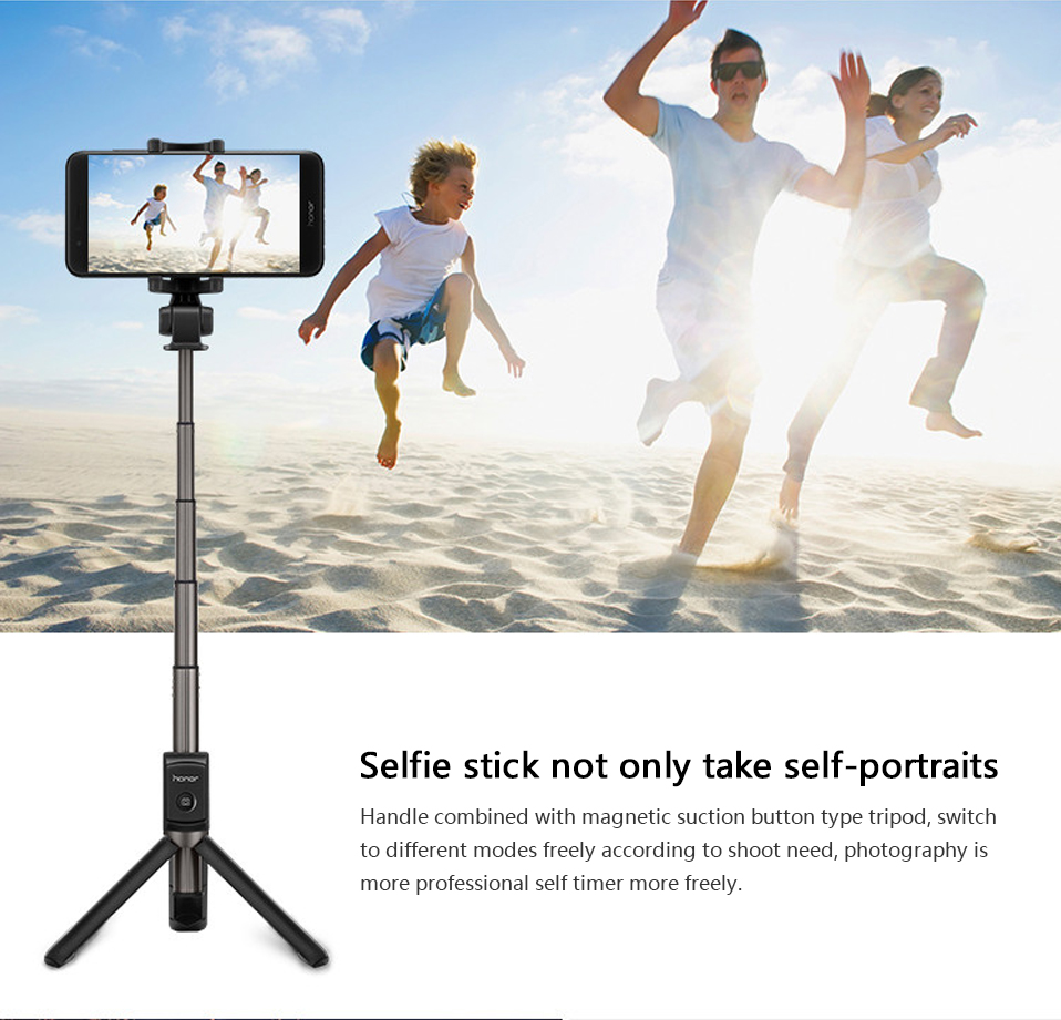 Original Huawei Honor AF15 Selfie Stick Tripod Bluetooth 3.0 Monopod Extendable Handheld Selfie Stick Tripod for IOS Android (2)