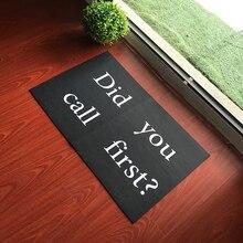 พรมเช็ดเท้าคุณ Call First ในร่มกลางแจ้งประตูเสื่อห้องโถง Non   Slip พรมเช็ดเท้าเครื่องทำความสะอาดได้   ผ้าทอ