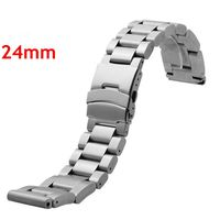 Good Quality Silvery 24mm Men Woman Stainless Steel Watch Band With 2 Spring Bars For Business Smart Watches Strap GD013524