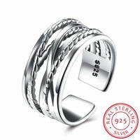 2017 NEW 925 Sterling Silver Simple cross braid Finger Ring ring Fit Original for Women Engagement Fashion Jewelry Jewelry