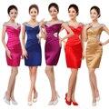 Barato 2015 moda novia partido atractivo más tamaño la madre del cortocircuito de la novia v-cuello del vestido de noche del vestido Formal envío gratis