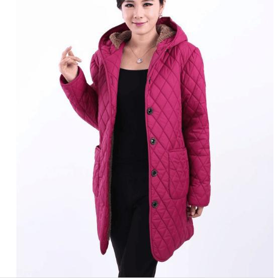 Parkas   New winter jacket plus fertilizer to increase middle-aged plus velvet hooded winter coat jacket Padded Size XL-6XL