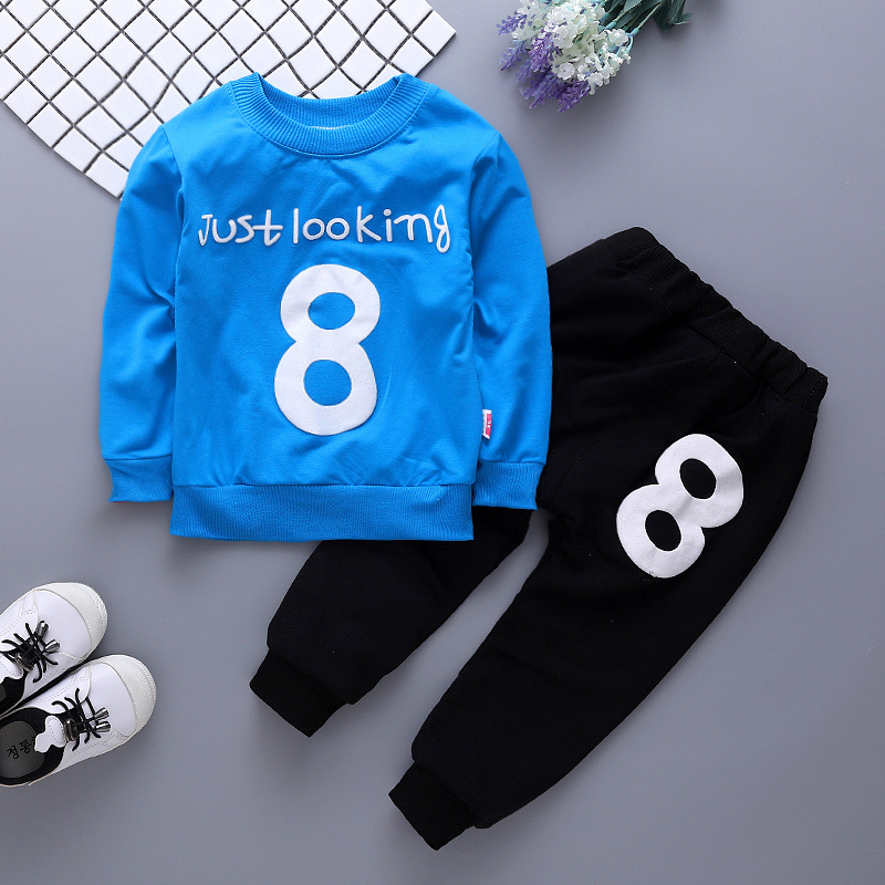 BibiCola boys clothing set spring children casual long sleeve T-shirt+pants 2pcs sports suits for boys kids tracksuits clothes new spring kids clothes navy long sleeve pullover striped sports suit casual boys clothing set z249