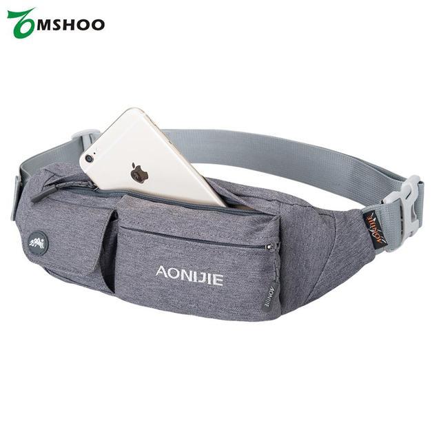 3c5b5cb72f AONIJIE Fanny Pack Waist Bag Travel Pocket Sling Chest Shoulder Phone  Holder Running Belt Adjustable Band
