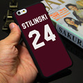 Teen Wolf Stilinski 24 Black Phone Case for iPhone 5S 5 SE 5C 4 4S 6 6S 7 Plus Cover ( Soft TPU / Hard Plastic for Choice )