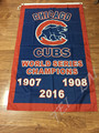 3X5FT 2016 world series champions Chicago Cubs flag with 2 metal Grommets chicago cubs champions flag free shipping