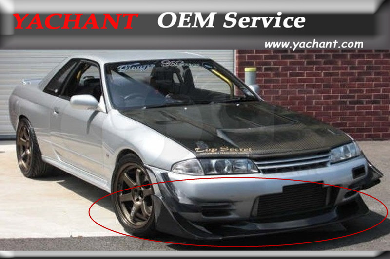 US $490 0 |Carbon Fiber Front Bumper Lip & Front Canards Fit For 1989 1994  Nissan Skyline R32 GTR TBO Style Front Lip with TBO Style Canard-in Bumpers