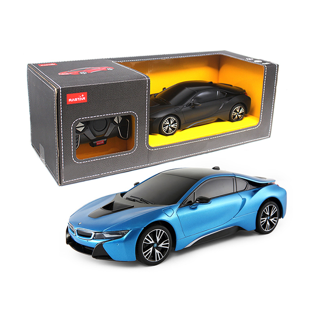 Rastar Black and Blue RC Sports Cars