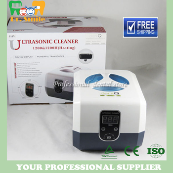 Dental Ultrasonic Cleaner Cleaning Machine Stainless Steel Portable Dental Jewelry Watch Cleanser Machine Digital Display