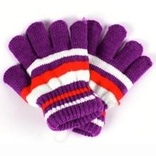 Baby Gloves Striped Cotton Winter Warm Mitten Knitted Full Finger Children Gloves Colorful Kids Boys Girls Mittens Gloves