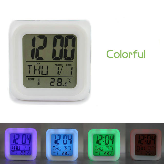 online shop color changing digital alarm clock anime film trolls led