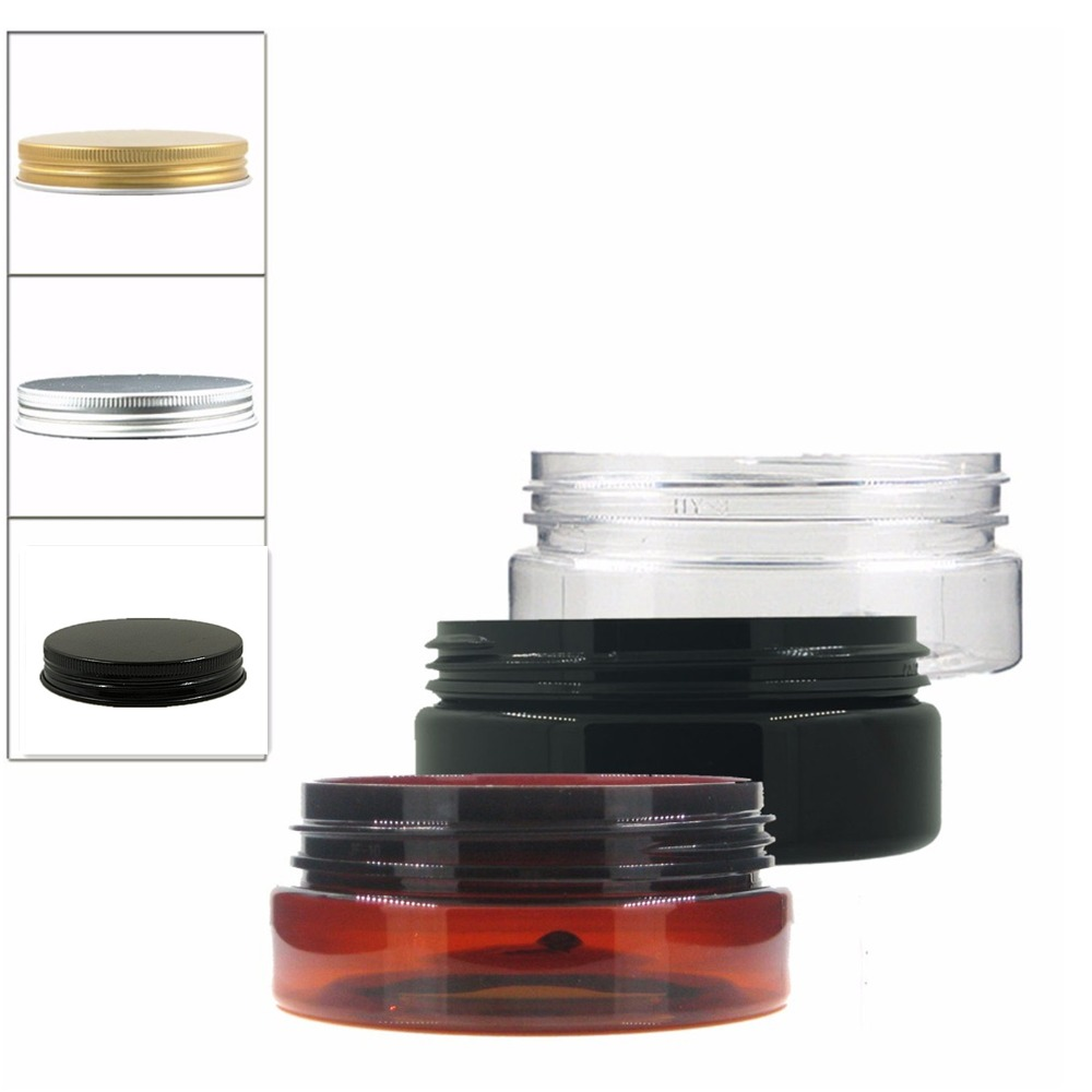 24pcs/lot 50ml Amber/clear/black Pet Jar With Screw Aluminium Cap  ,plastic Jar,Cosmetic Jar,plastic Container,bottle
