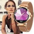 Monitor de ritmo cardíaco reloj inteligente mujer sangre Pressur Bluetooth moda inteligente pulsera Fitness Tracker reloj pulsera para mujer