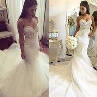 Спагетти ремень пляжные свадебные платья 2019 Лори Vestido Noiva Praia с Бисер Тюль Casamento Свадебные халаты быстрая доставка