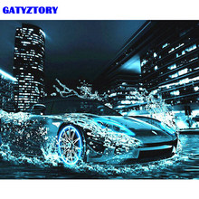 GATYZTORY Frame Car Diy Painting By Numbers Abstract Modern Wall Art Picture Hand Painted Oil Painting For Home Decor 40x50cm(China)