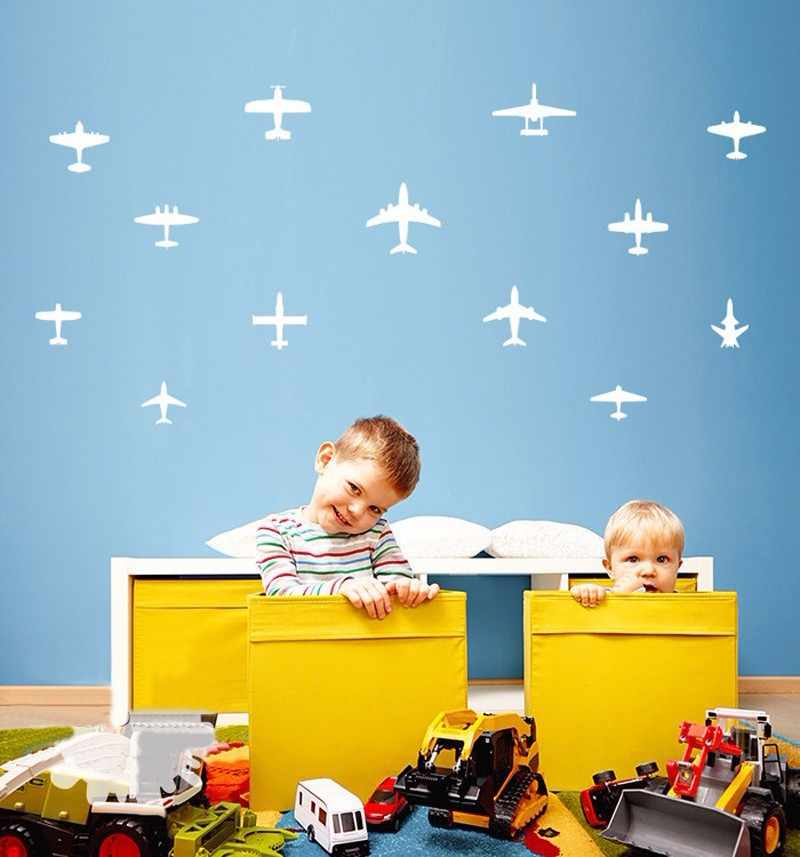 13pcs Diy Airplane Wall Decals