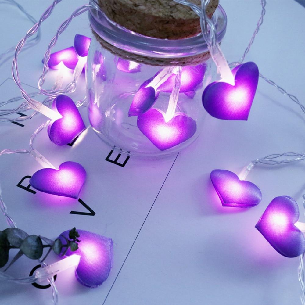 LED Fairy Lights Love Heart Shape Battery Powered 1.5m 3m Led String Light Holiday Wedding Christmas Party Led Lights Decoration