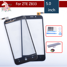 Original Touch Screen Digitizer For ZTE Avid Trio Z833 Touch Panel Touchscreen Lens Front Glass Sensor NO LCD Z833 Replacement original new touch screen digitizer 7 85 inch zte e learning pad e8q tablet touch panel glass sensor replacement free shipping