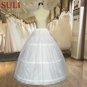 Image 1 - מכירה לוהטת אביזרי חתונה 3 חישוק קרינולינה תחתוניות חתונה חצאית במלאי תחתוניות F1782