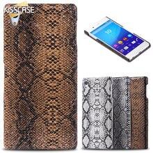 KISSCASE Animal Skin Back Case Для Sony Xperia Z4 Z3 + Z3 плюс E6553 Ультра Тонкий Тонкий Сексуальный Змея PU Кожа Мобильного Телефона крышка