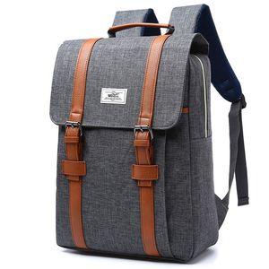 Image 1 - Femmes toile sac à dos décontracté sacs à dos femme 15 pouces sacs à dos dordinateur portable collège étudiant école sac à dos femmes Mochila
