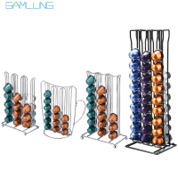 Stainless Steel Metal Nespresso Capsule Coffee Pod Holder Tower Stand Display Rack Storage Capsule Organizer Tool