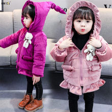 15e5c7778 Ropa de niños abrigo de invierno niños ropa gruesa caliente chaquetas de  terciopelo de oro con capucha de manga larga niñas abri.