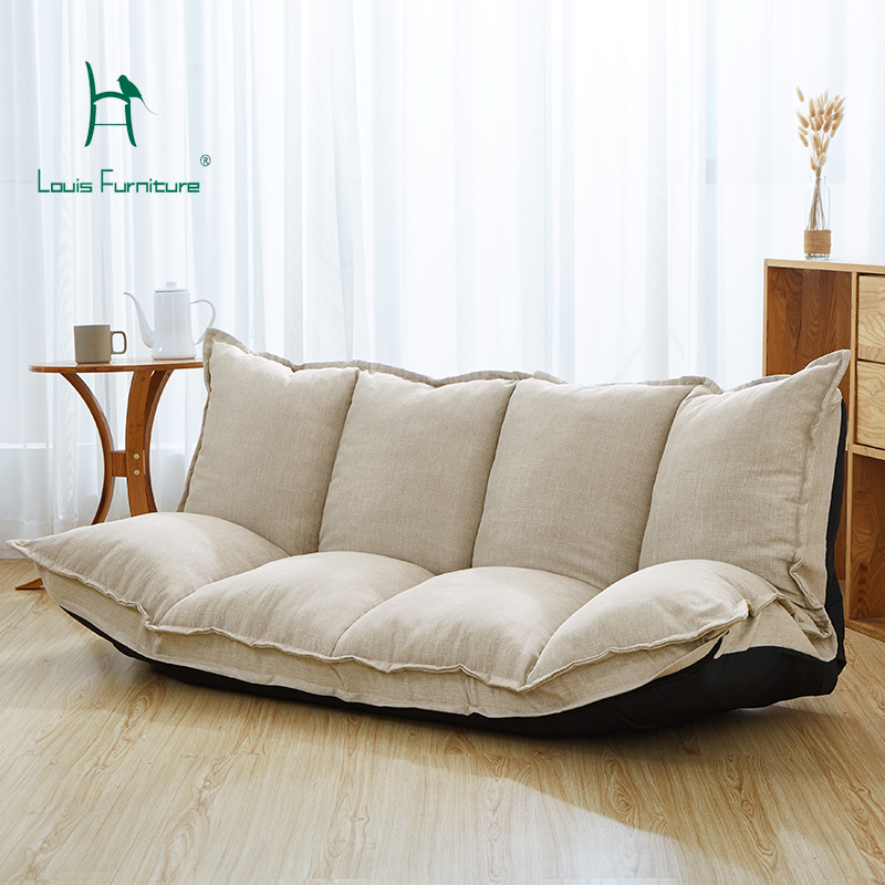 Louis Fashion Lazy Sofa Tatami Multi-function Folding Sofa, Small Apartment, Double Sofa Chair, Bedroom Lazy Sofa.(China)