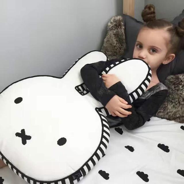 Kawaii coelho travesseiro bebê menino meninas enfant coussin travesseiro oreiller bebek kussen cuscini bambini navidad Presente de Natal do bebê