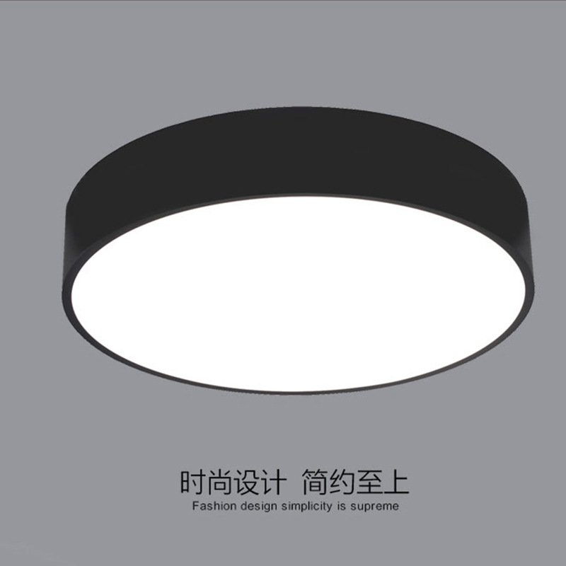 ФОТО Simple round metal LED Ceiling Lights lamps for Office kids room Deckenleuchten Plafon Plafond lamp free shipping