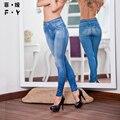 2016 Женщин джинсы Мода горячие сексуальные девушки Полная длина высокая талия джинсы american apparel жан femme