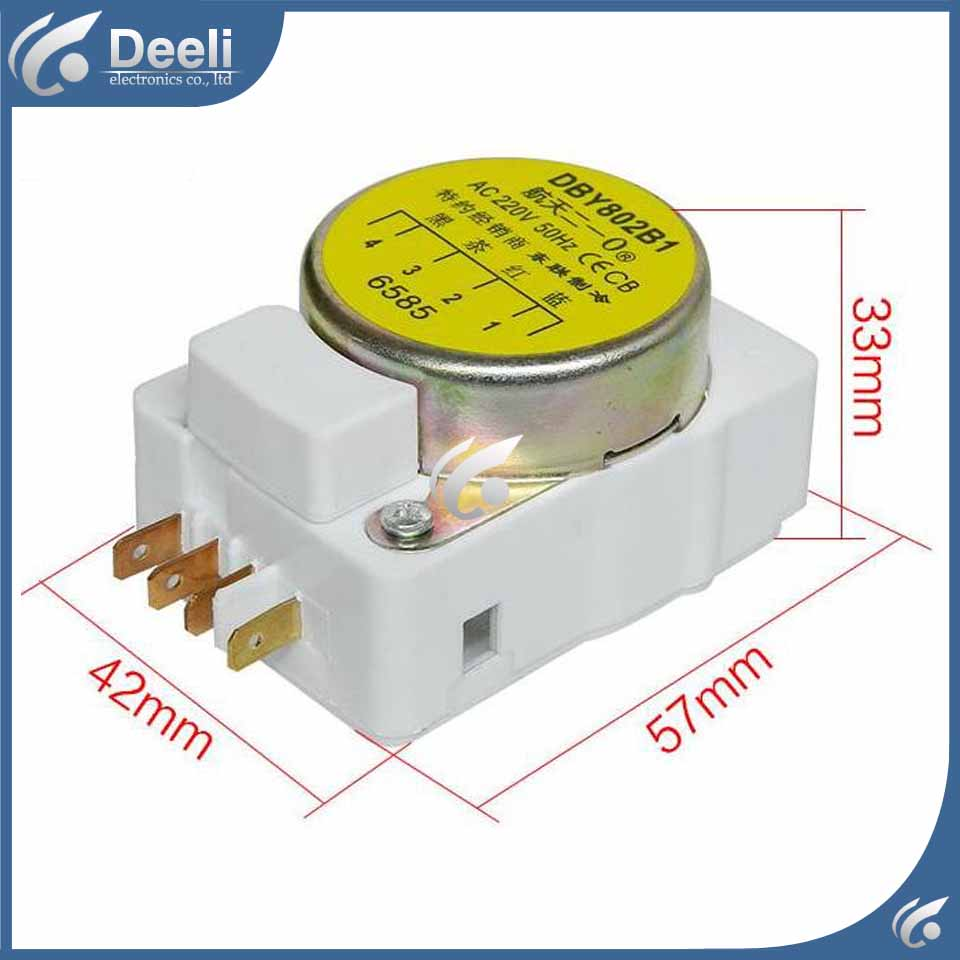 1pcs for new for Refrigerator defrost timer DBY802B1 Defrosting timer refrigerator parts fridge defrost timer 57 33mm tmdf 702zd1