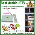 6 lote cheapest Árabe IPTV caja, caja de la tv árabe Qnet, envío gratis sin cuota mensual caja de la tv Árabe