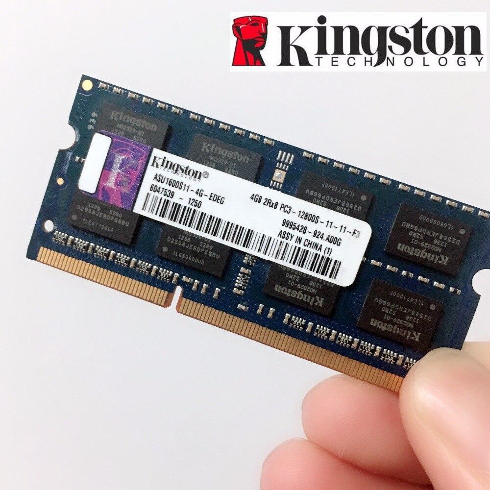 Kingston Mémoire RAM Memoria Module Notebook ordinateur portable 4 gb 4g PC3 PC3L DDR3 1333 1600 mhz 1333 mhz 1600 mhz 10600 12800 10600 s RAM