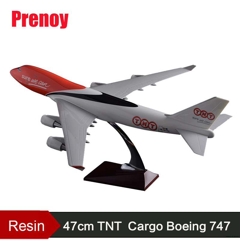 47cm Resin Boeing 747 TNT Express Aircraft Model TNT Cargo Airlines Plane Airbus Model B747 Airplane Airways Aviation Model Toys spike wings xx4391 jc china eastern airlines b 5902 a330 200 green 1 400 commercial jetliners plane model hobby