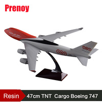 47cm Resin Boeing 747 TNT Express Aircraft Model TNT Cargo Airlines Plane Airbus Model B747 Airplane Airways Aviation Model Toys