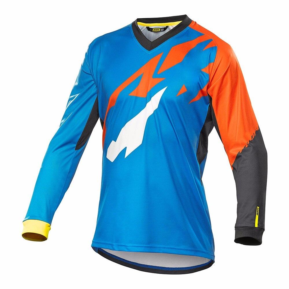 Brand New 2017 Men Motorcycle Motocross Racing DH Downhill MX MTB Free T shirt <font><b>Jersey</b></font> <font><b>Jerseys</b></font> Cycling Wear XS~XXXXL