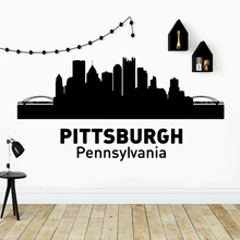 Funny Pittsburgh pennsylvania Wall Art Decal Decoration Fashion Sticker For Kids Room Diy Pvc Home