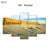 MYT New Arrival Big Size Printed Picture The Natural Landscape Painting Mist Forest Poster Print Canvas